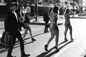 NYE party strutting