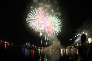 Spectacular NYE Fireworks Show on Sydney Harbour